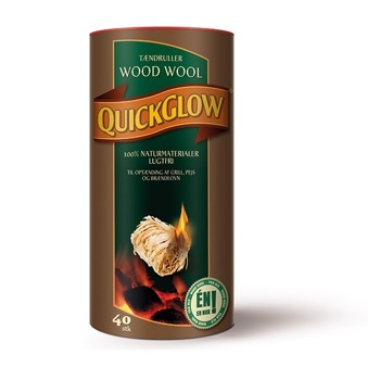 QuickGlow  WoodWool 40 stk i tønde